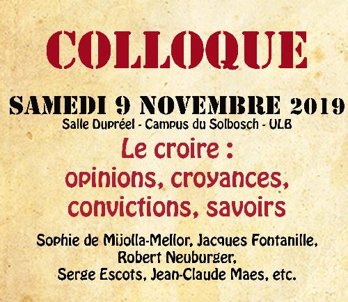 Colloque samedi 09 novembre