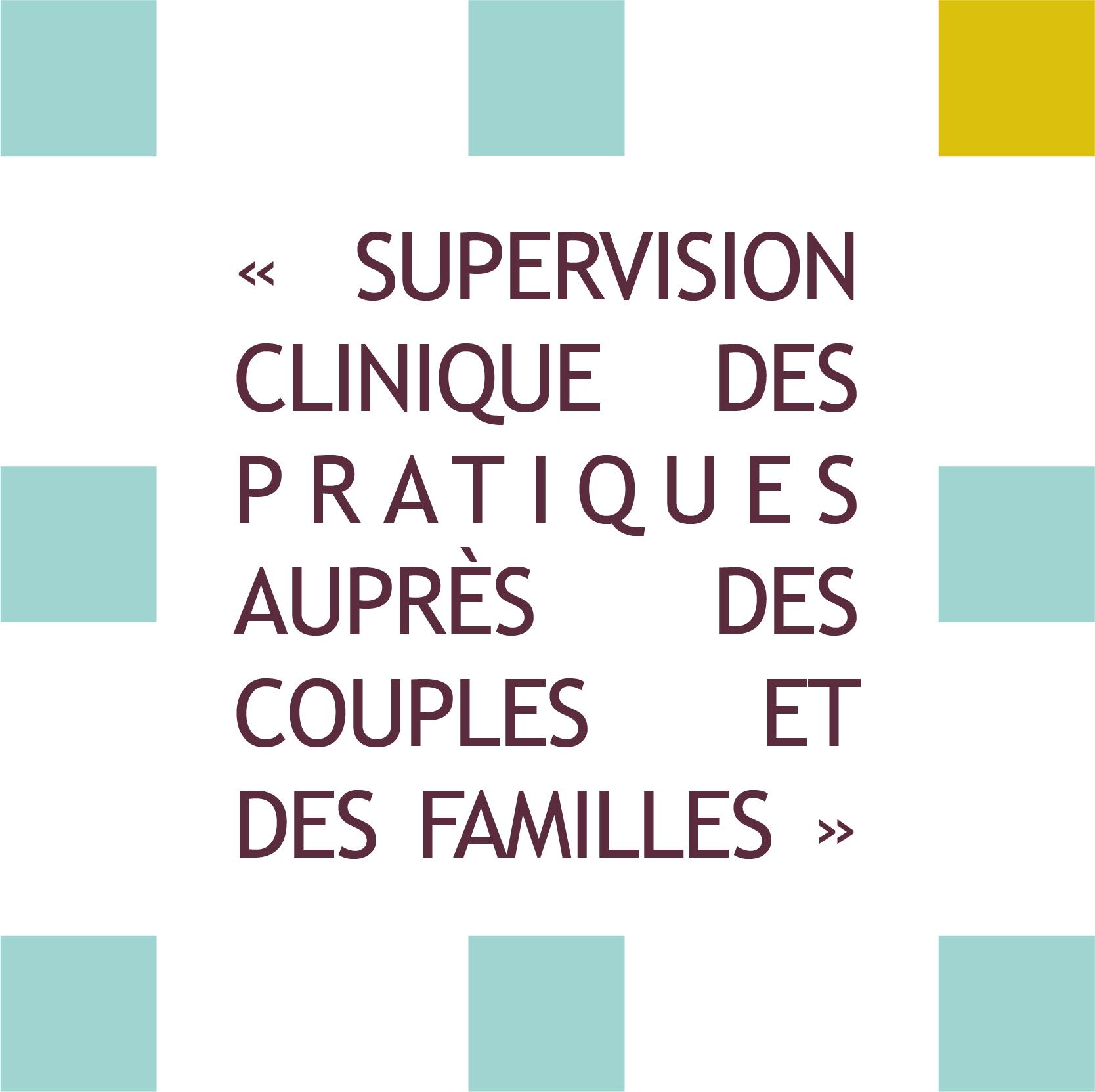 formation supervision clinique des pratiques auprès des couples et des familles